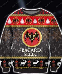 bacardi select rum wine all over print ugly christmas sweater 2