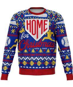 baseball home for christmas all over printed ugly christmas sweater 2