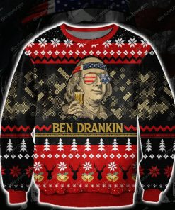 ben drankin all over print ugly christmas sweater 2
