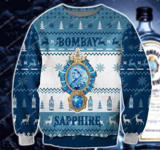 bombay sapphire all over print ugly christmas sweater 2 - Copy (2)
