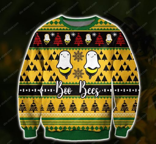 boo bees all over print ugly christmas sweater 2 - Copy