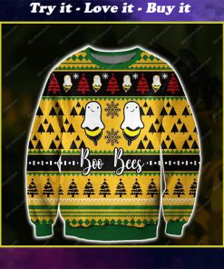 boo bees all over print ugly christmas sweater