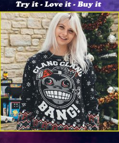 call of duty monkey bomb clang clang bang all over printed ugly christmas sweater