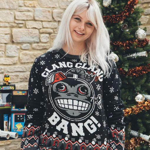 call of duty monkey bomb clang clang bang all over printed ugly christmas sweater 3