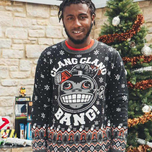 call of duty monkey bomb clang clang bang all over printed ugly christmas sweater 4