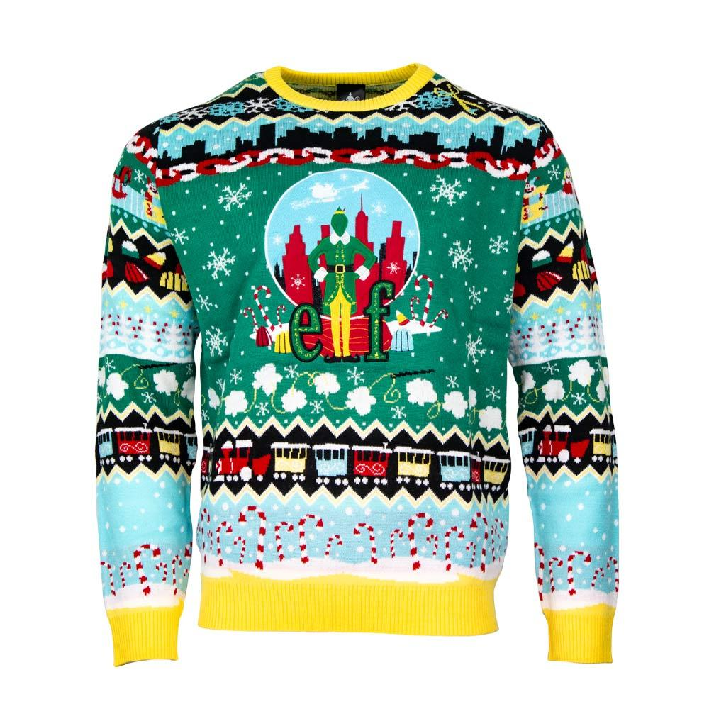 christmas elf all over printed ugly christmas sweater 4