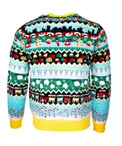 christmas elf all over printed ugly christmas sweater 5