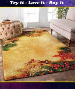 christmas time christmas tree full printing rug