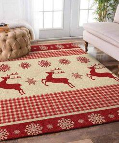 christmas time deer full printing rug 2