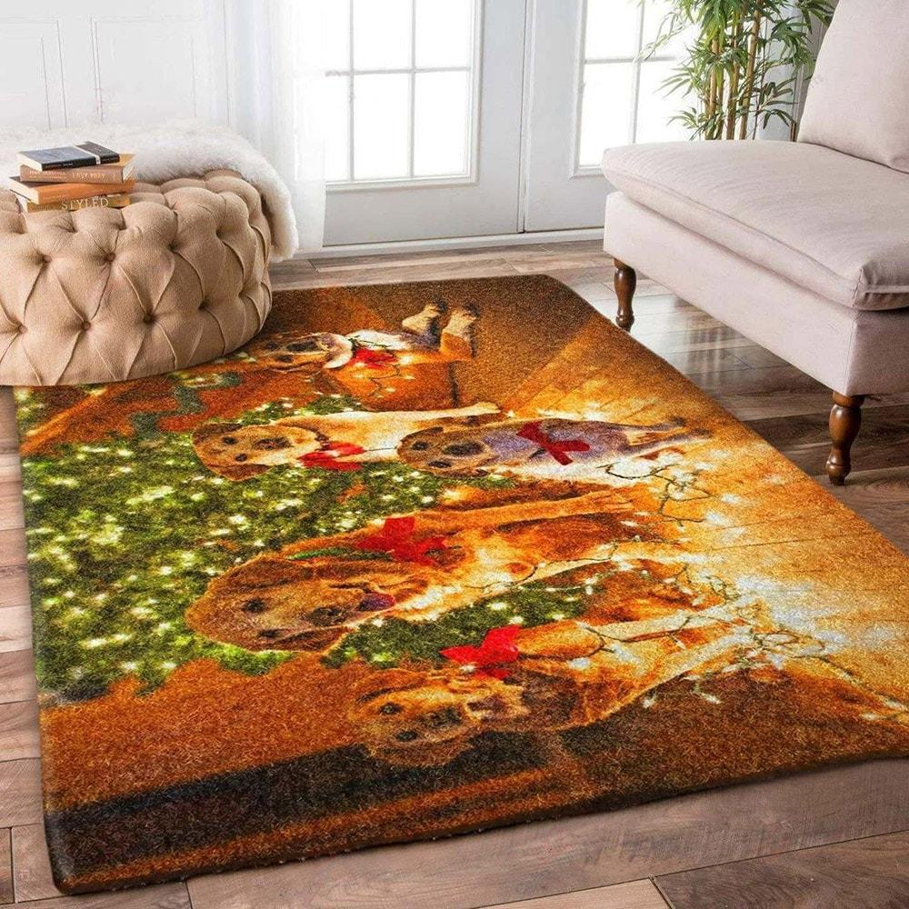 christmas time dog lover full printing rug 2