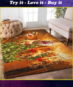 christmas time dog lover full printing rug