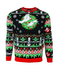 christmas time ghostbusters all over printed ugly christmas sweater 3