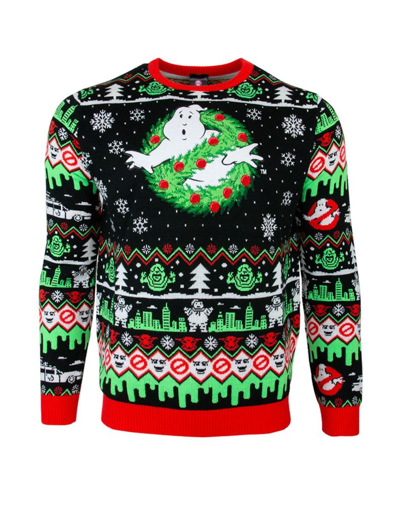 christmas time ghostbusters all over printed ugly christmas sweater 5