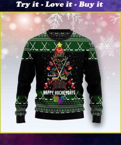 christmas tree happy hockey days ugly christmas sweater