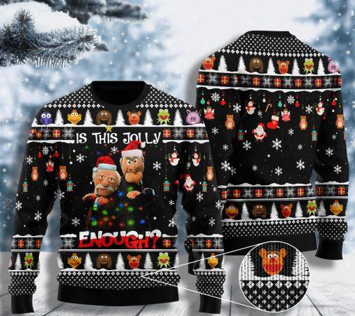 comedy the thing about hecklers is this jolly enough ugly christmas sweater 2 - Copy (2)