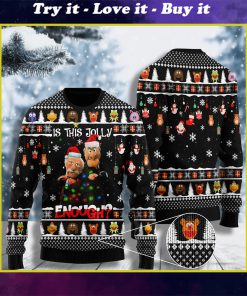 comedy the thing about hecklers is this jolly enough ugly christmas sweater