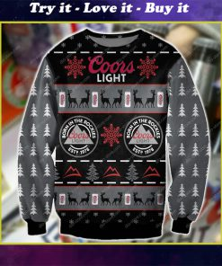 coors light beer born in the rockies all over print ugly christmas sweater