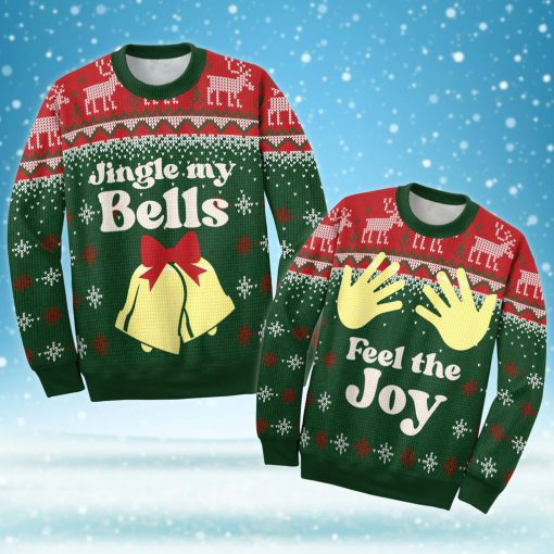 couple shirt jingle my bells all over printed ugly christmas sweater 4