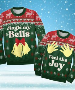 couple shirt jingle my bells all over printed ugly christmas sweater 5