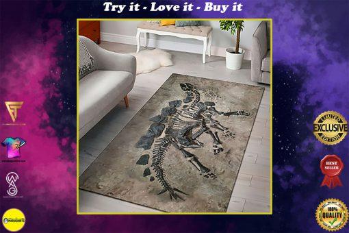 dinosaur fossils full printing rug