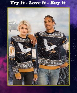harry potter hedwig all over printed ugly christmas sweater