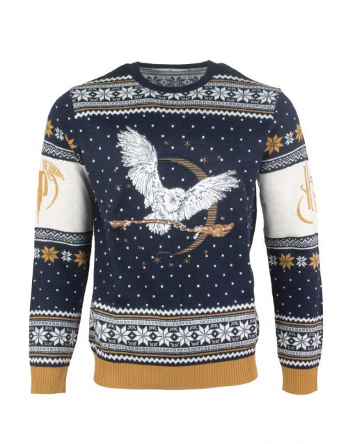 harry potter hedwig all over printed ugly christmas sweater 5
