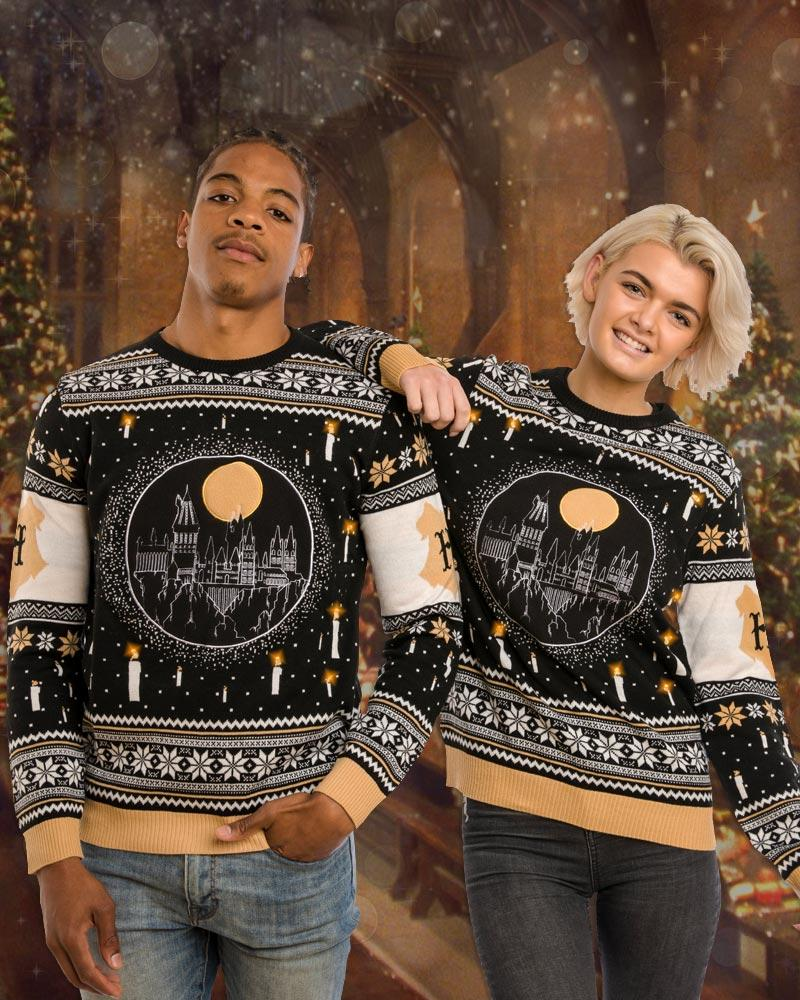 harry potter hogwarts castle all over printed ugly christmas sweater 2