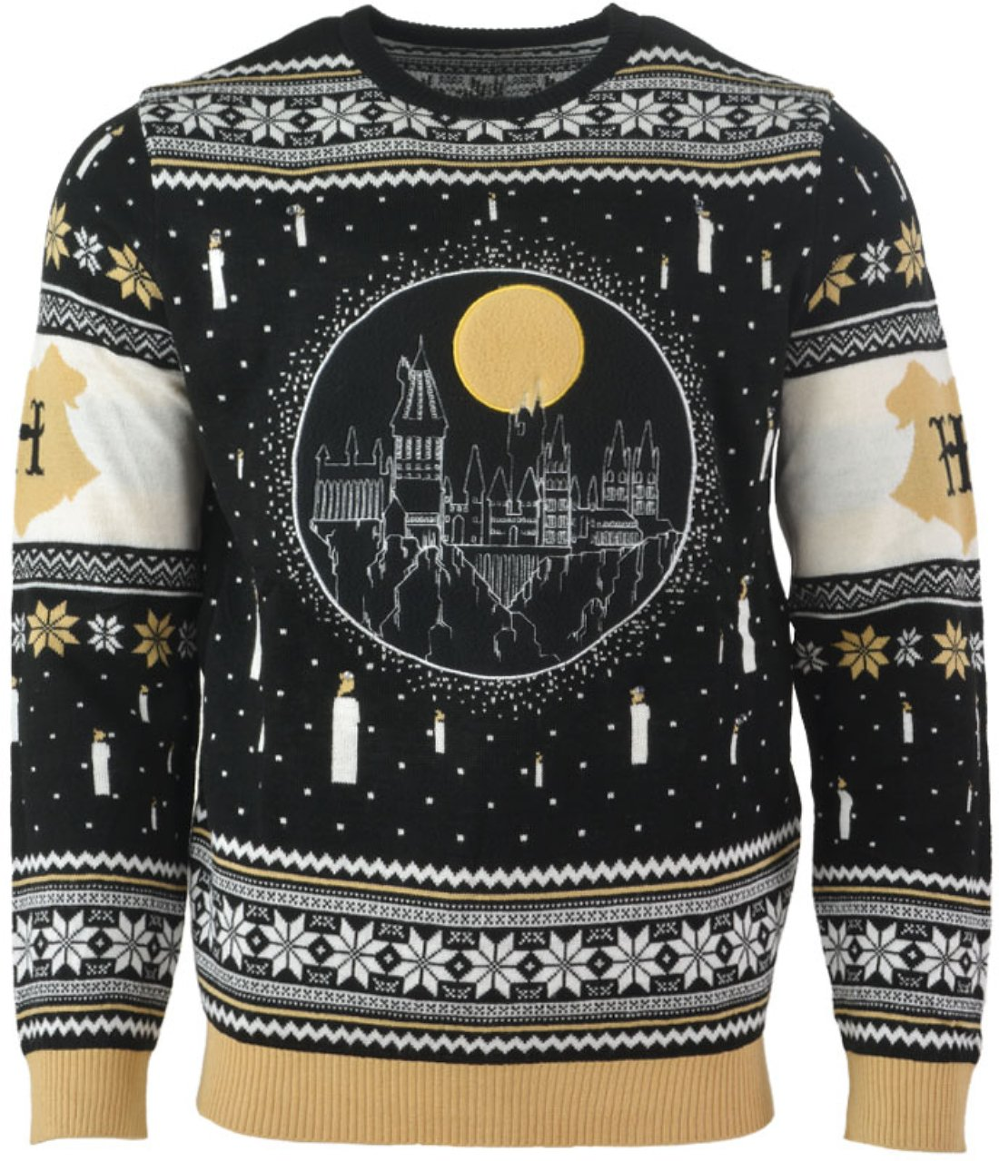 harry potter hogwarts castle all over printed ugly christmas sweater 3
