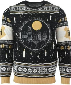 harry potter hogwarts castle all over printed ugly christmas sweater 4