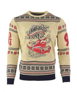 harry potter hogwarts express all over printed ugly christmas sweater 2