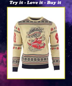 harry potter hogwarts express all over printed ugly christmas sweater