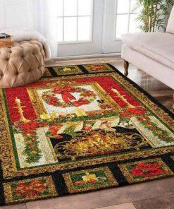 holiday time and merry christmas full printing rug 4