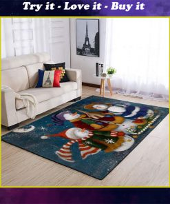 holiday time snowman full printing rug