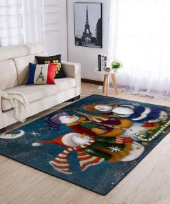 holiday time snowman full printing rug 3
