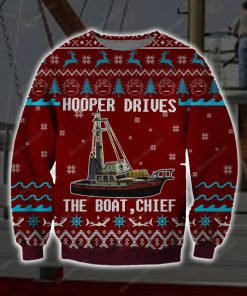 hooper drives the boat chief full printing ugly christmas sweater 5