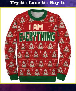 i am everything love couple ugly christmas sweater