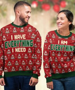 i am everything love couple ugly christmas sweater 3