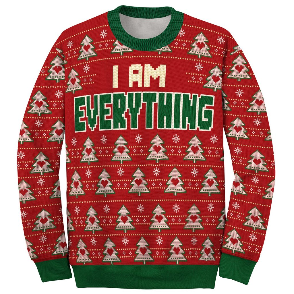 i am everything love couple ugly christmas sweater 5