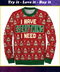 i have everything i need love couple ugly christmas sweater