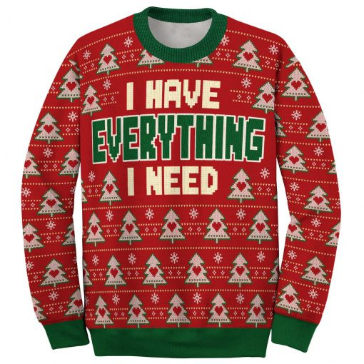 i have everything i need love couple ugly christmas sweater 3