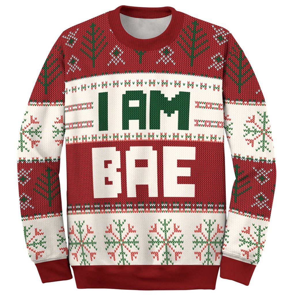 if lost return to bae and im bae couple shirt ugly christmas sweater 2