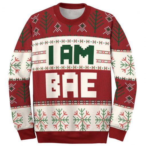 if lost return to bae and im bae couple shirt ugly christmas sweater 3