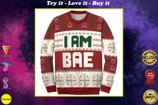 if lost return to bae and im bae couple shirt ugly christmas sweater