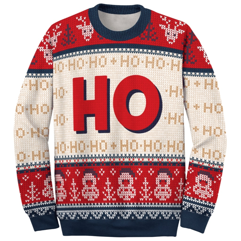 love couple santa claus where my hos at ugly christmas sweater 4