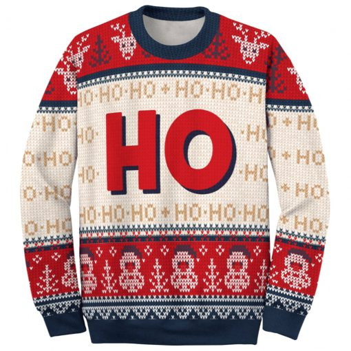 love couple santa claus where my hos at ugly christmas sweater 5