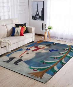 merry christmas and frosty the snowman full printing rug 2