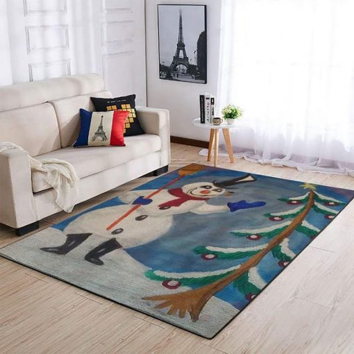merry christmas and frosty the snowman full printing rug 4