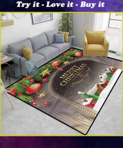 merry christmas and happy new year full printing rug