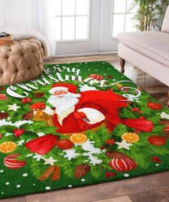 merry christmas santa claus full printing rug 4