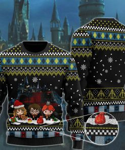 merry christmas with harry potter chibi ugly christmas sweater 2 - Copy (3)